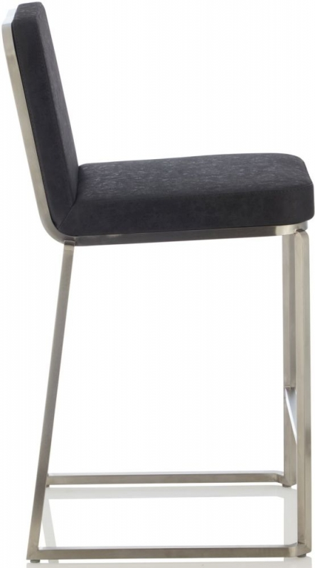 Serene Daphne Retro Black Faux Leather Barstool (Set of 2)