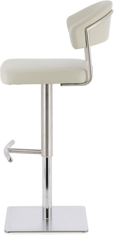 Serene Lucerne Grey Faux Leather Swivel Bar Stool