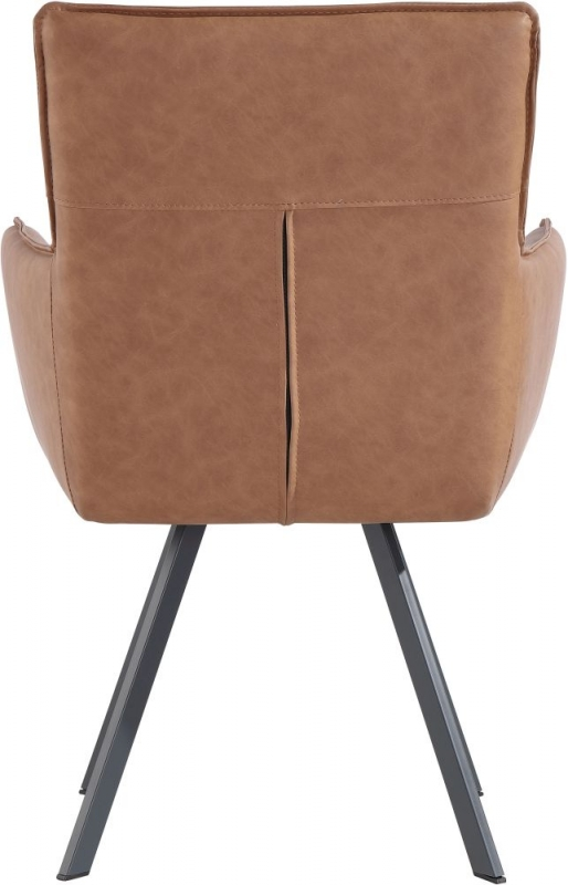 Cary Tan Faux Leather Dining Chair (Pair)