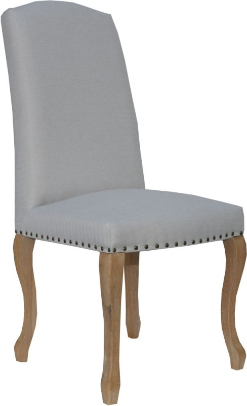 Luxury Natural Fabric Dining Chair (Pair)