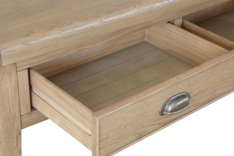 Hatton Oak 2 Drawer Coffee Table
