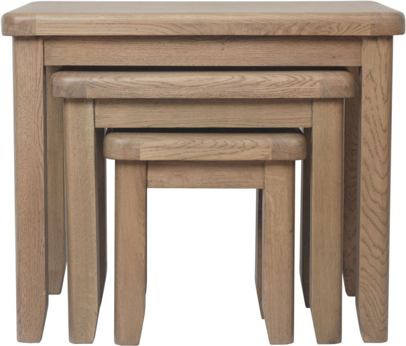 Hatton Oak Nest of 3 Tables