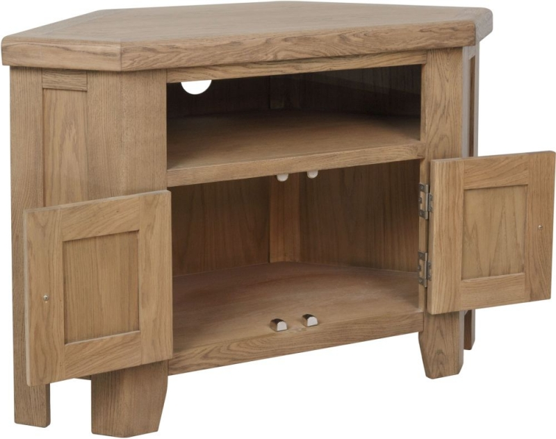 Hatton Oak Corner TV Unit