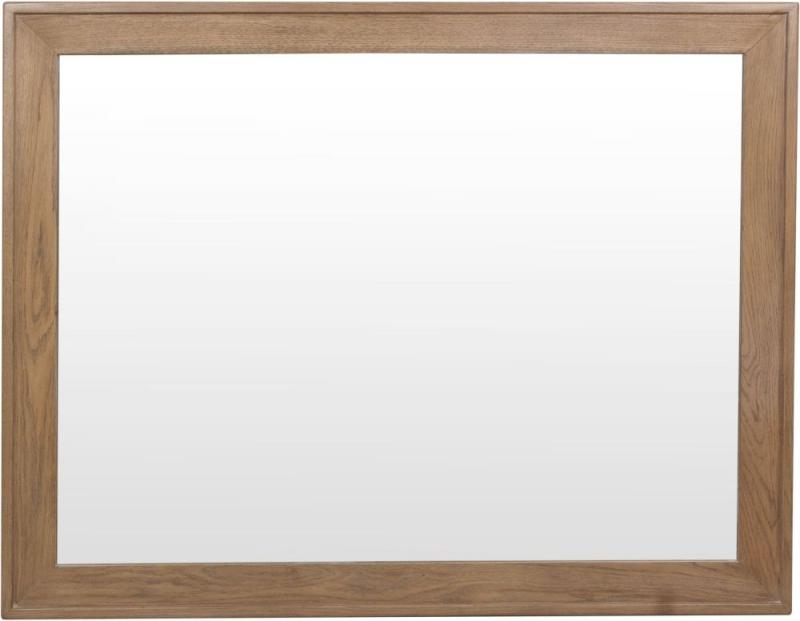 Hatton Oak Rectangular Wall Mirror - 120cm x 95cm