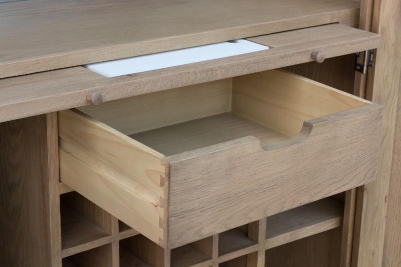 Hatton Oak Drinks Cabinet