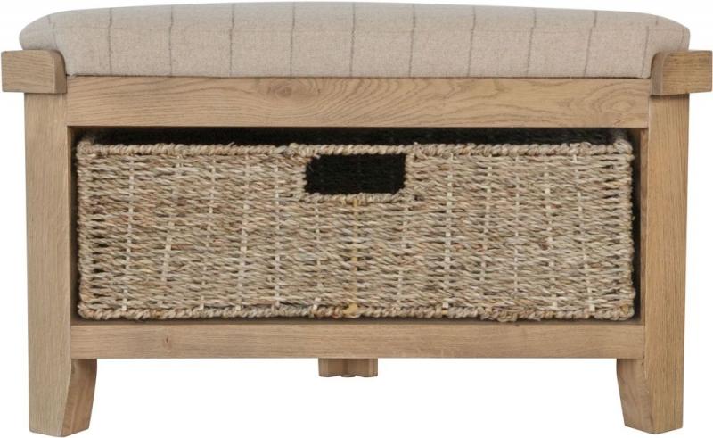 Hatton Oak Corner Hall Bench
