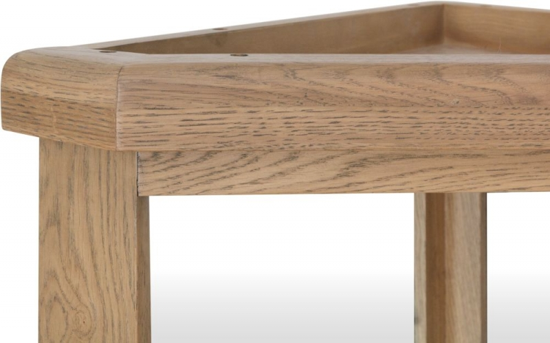 Hatton Oak Corner Hall Bench Top