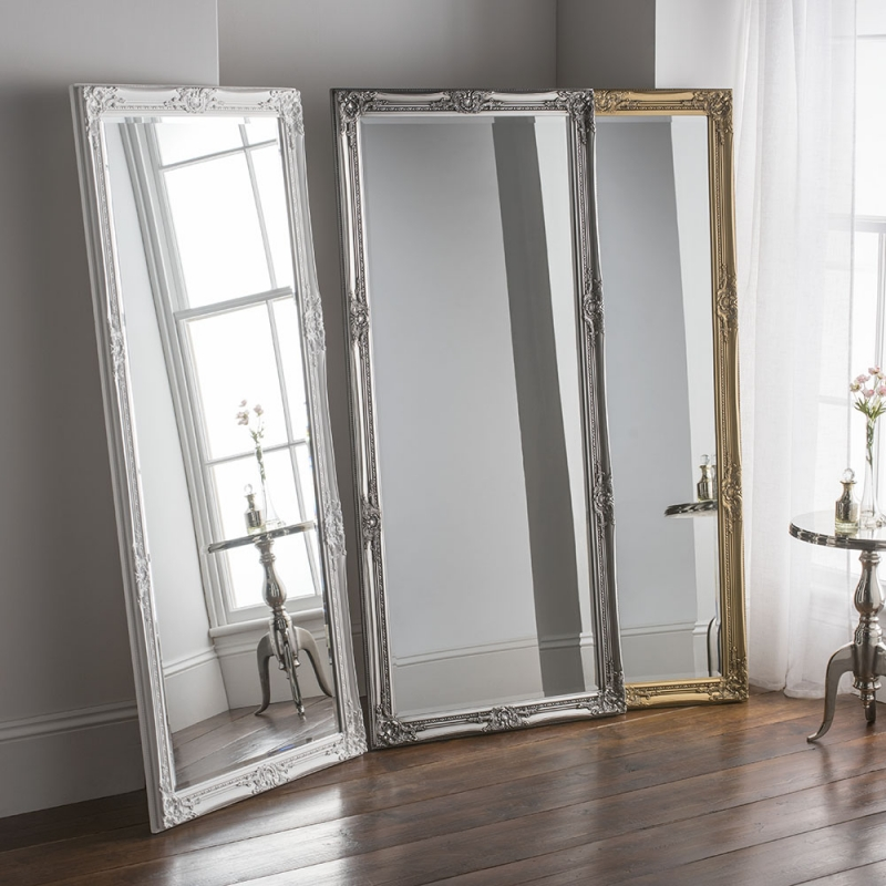 Highbury White Rectangular Leaner Mirror - 74cm x 165cm