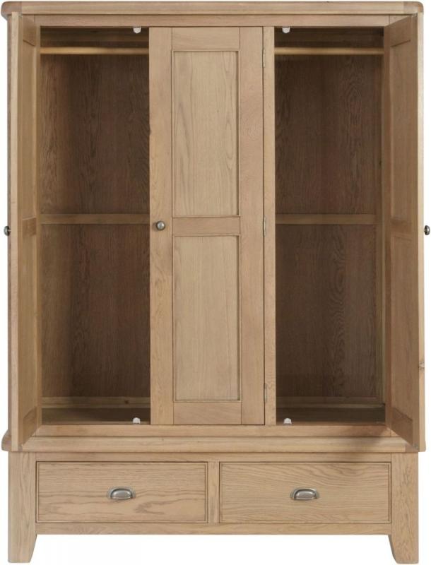 Hatton Oak 3 Door Wardrobe