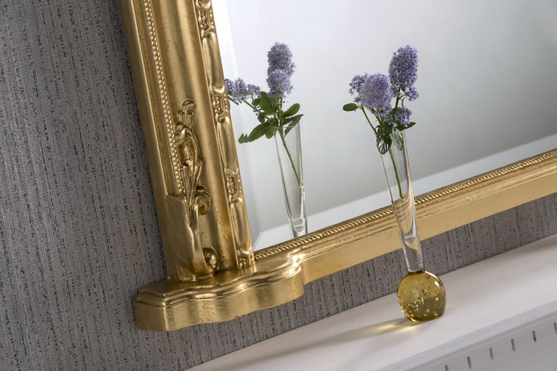Windsor Gold Arch Overmantal Mirror - 127cm x 91cm