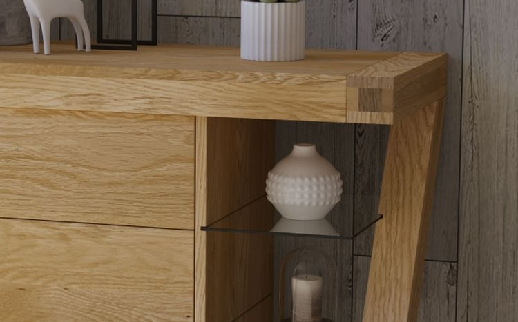 Clearance Half Price - Homestyle GB Z Designer Oak Small Sideboard - New - FS266
