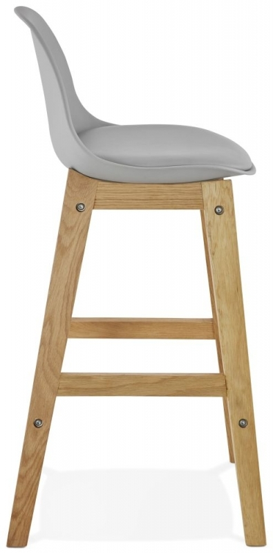Clearance Half Price - Colby Mini Grey and Oak Snack Bar Stool - (Pair) - New - FS255