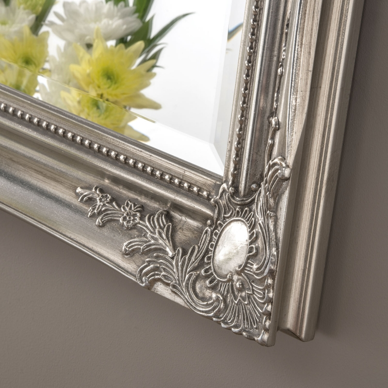 SF3 Silver Rectangular Wall Mirror - 91cm x 66cm