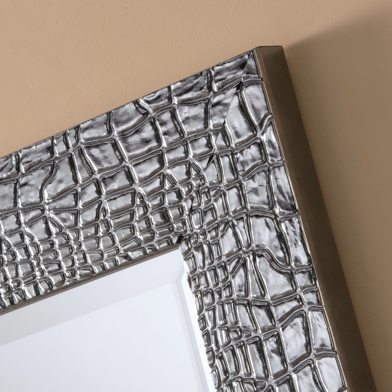 0116 Grey Rectangular Wall Mirror - 70cm x 95cm