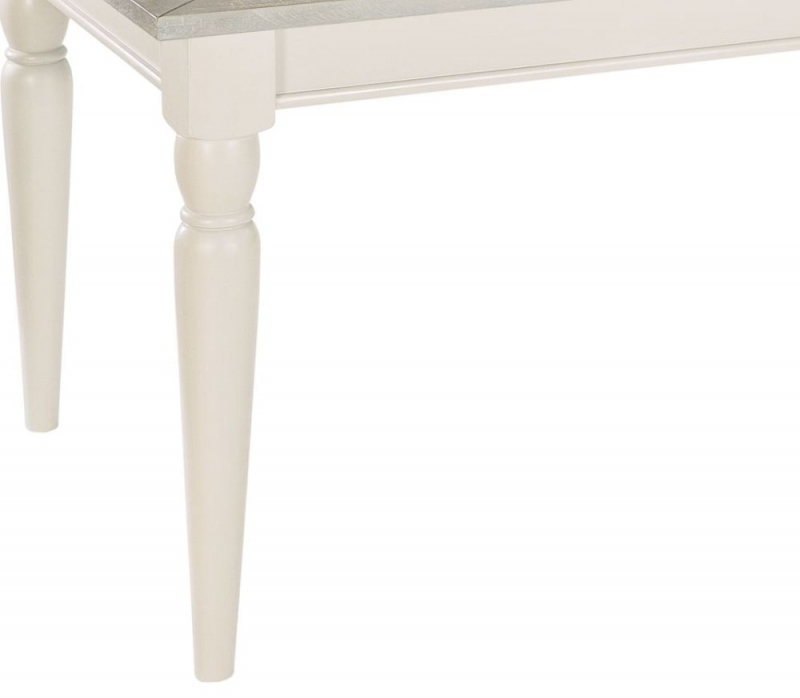 Clearance - Rowico Warwick Ivory Extending Dining Table - New