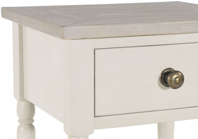 Clearance - Rowico Warwick Ivory 1 Drawer Lamp Table - New