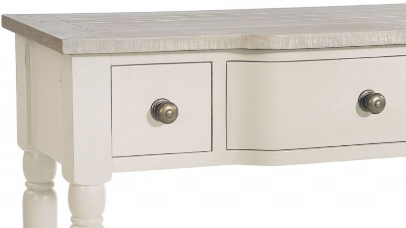 Clearance Half Price - Rowico Warwick Ivory 3 Drawer Console Table - New