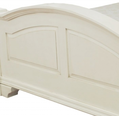 Clearance Half Price - Vida Living Ailesbury 4ft 6in Double Antique White Painted Bed - New - 1254