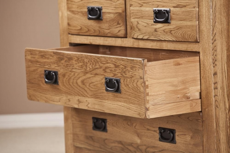Clearance Half Price - Rustic Oak 2+2 Drawer Chest - New - 1280