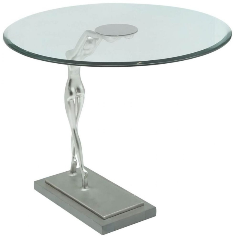 Clearance Half Price - Limerick Glass End Table - New - 1267