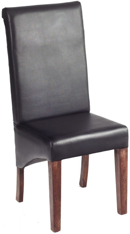 Indian Hub Toko Mango Leather Dining Chair (Pair)