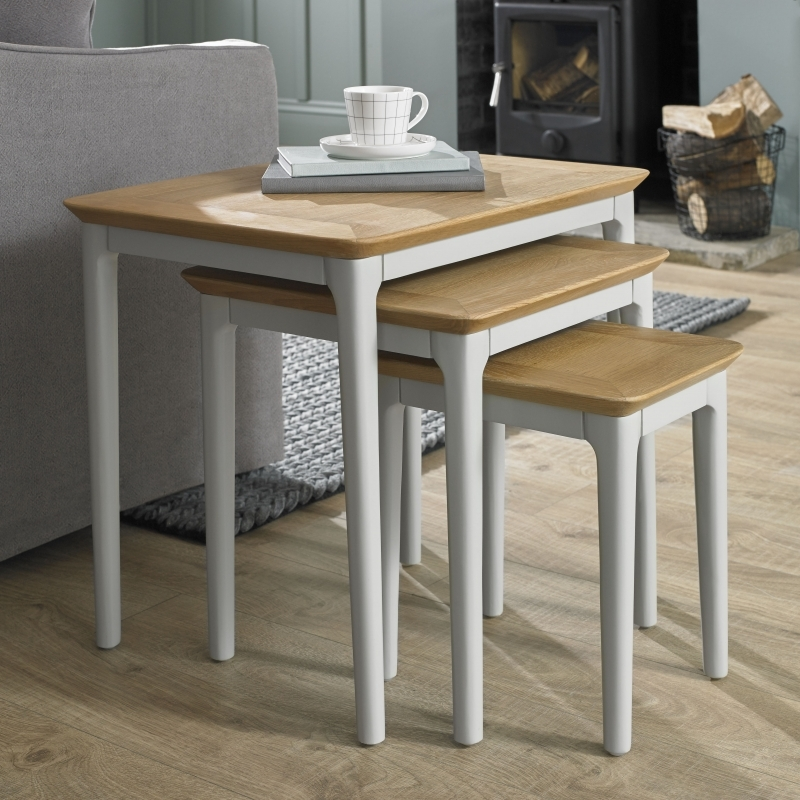 Clearance Half Price - Almstead Painted Nest of Tables - New - 1348