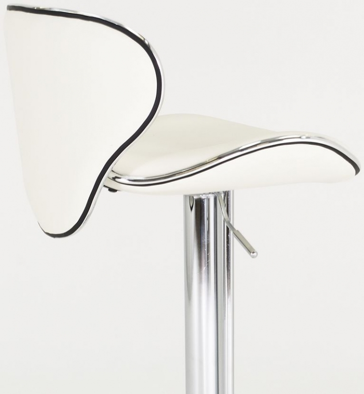 Clearance Half Price - Vida Living Nigella White Leather Bar Stool - New - 1205