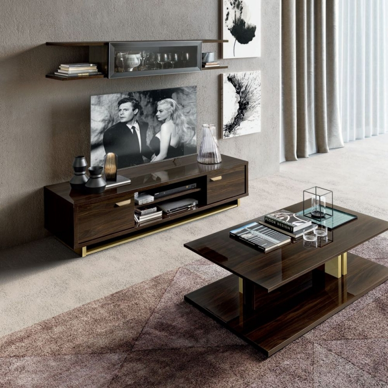 Camel Volare Day Walnut Italian TV Cabinet