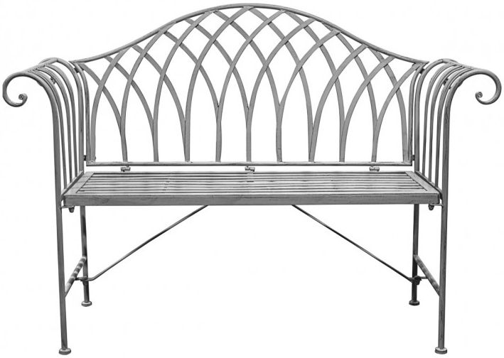 Gallery Direct Duchess Grey Estate Outdoor Garden Bench