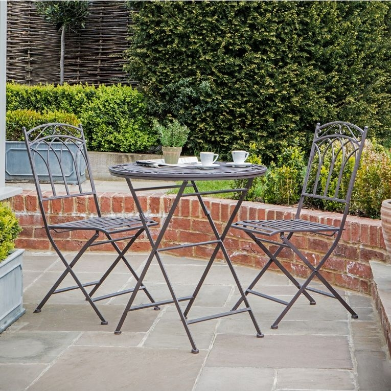 Gallery Direct Burano Brown Ember Outdoor Garden Bistro Set