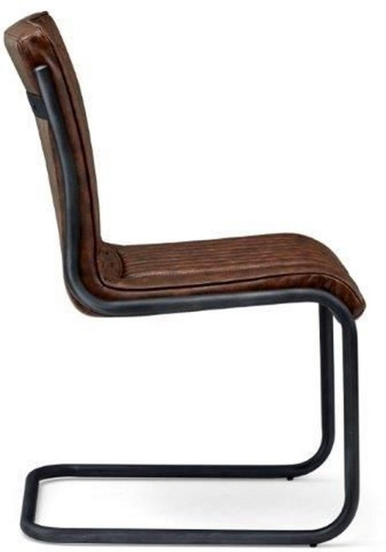 Indus Valley Novo Brown Faux Leather Dining Chair (Pair)