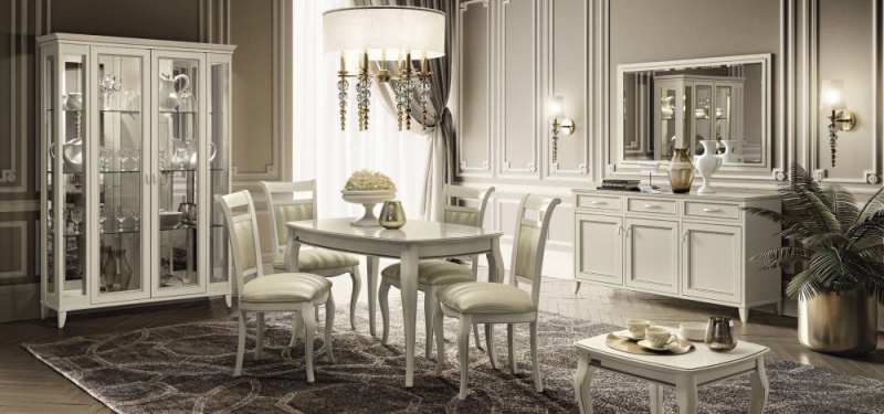 Camel Giotto Day Bianco Antico Italian Casablanca Fabric Dining Chair