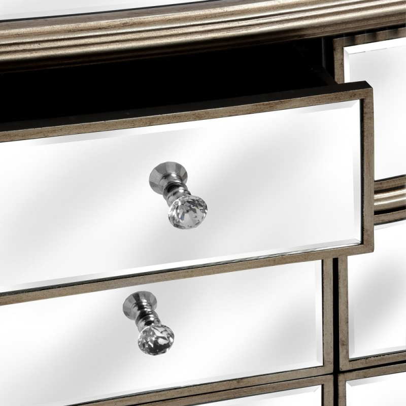 Hill Interiors Belfry 6 Drawer Wide Mirrored Chest