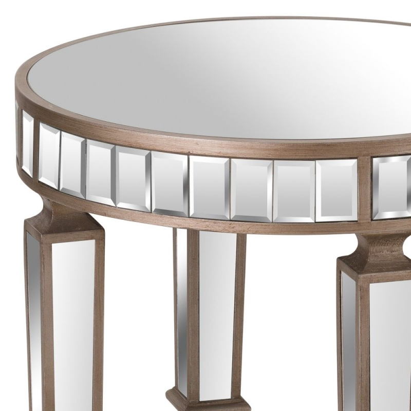 Hill Interiors Belfry Mirrored Round Side Table