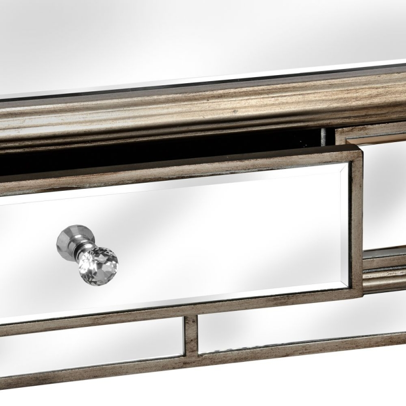 Hill Interiors Belfry 2 Drawer Mirrored Console Table