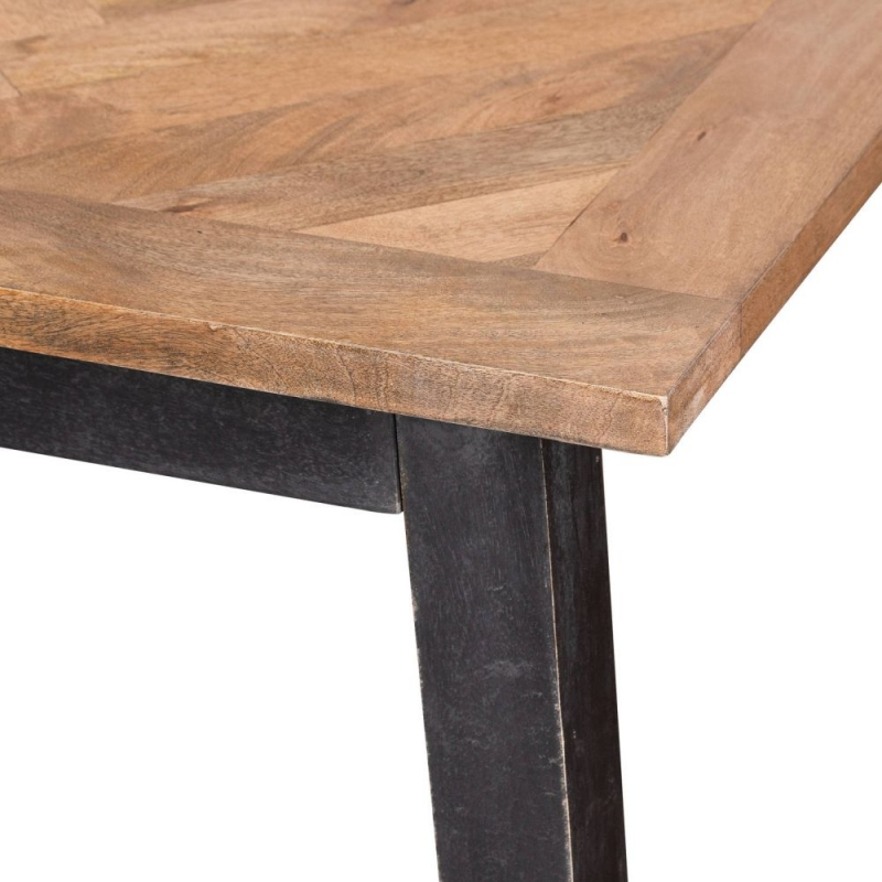 Hill Interiors Nordic Parquet Style Mango Wood Dining table