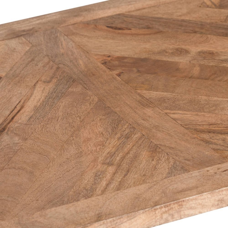 Hill Interiors Nordic Parquet Style Mango Wood Coffee Table