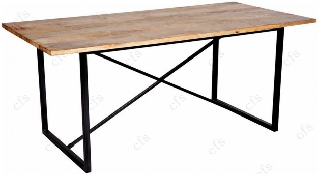 Indian Hub Cosmo Industrial Rectangular Dining Table   180cm