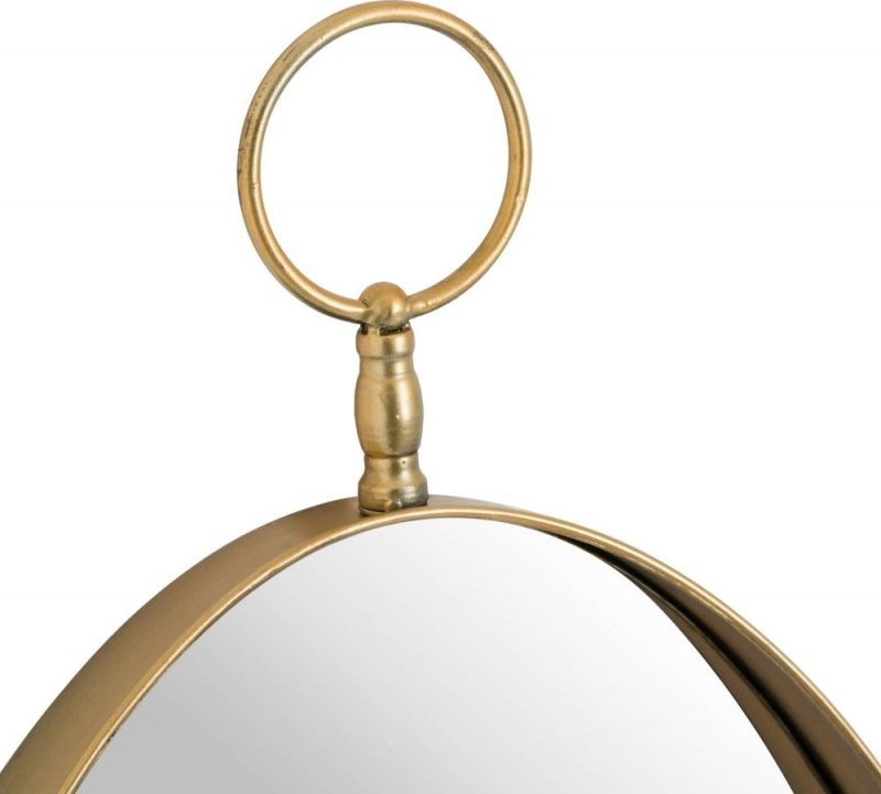 Hill Interiors Antique Gold Oval Wall Mirror - 43cm x 96cm