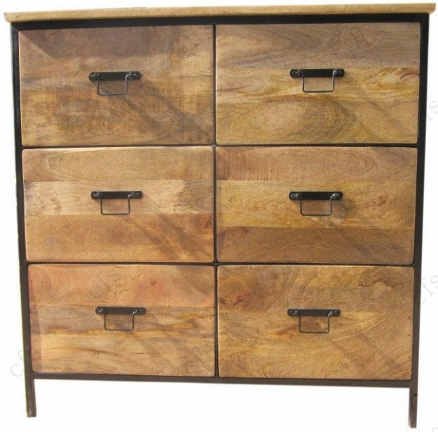 Indian Hub Cosmo Industrial Chest of Drawer - 6 Drawer