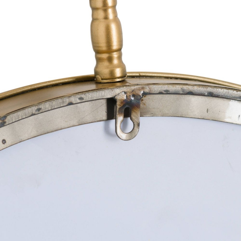 Hill Interiors Antique Gold Large Round Wall Mirror - 60cm x 74cm