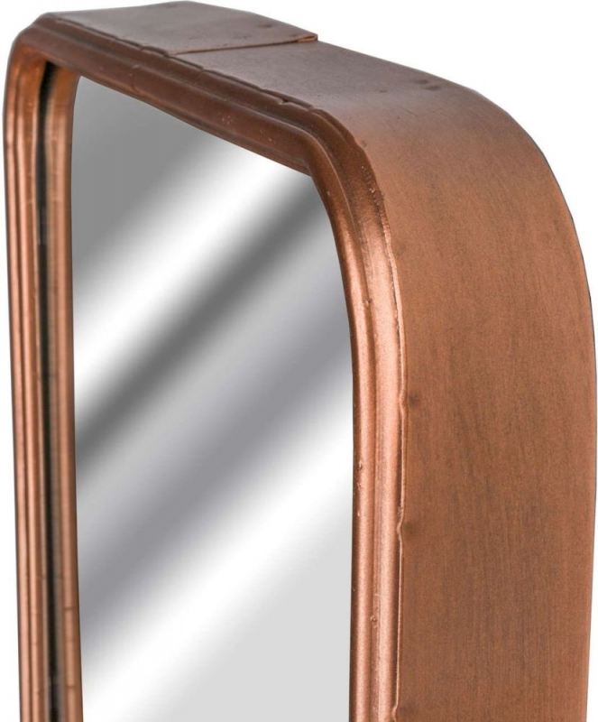 Hill Interiors Industrial Copper Rectangular Leaner Mirror - 26cm x 80cm
