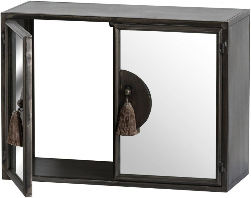 Hill Interiors Silver Mirrored 2 Door Wall Cabinet