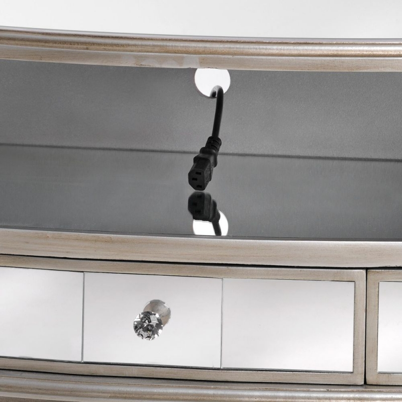 Hill Interiors Argente Mirrored 3 Drawer TV Cabinet
