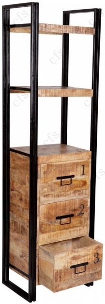 Indian Hub Cosmo Industrial Bookcase - Slim
