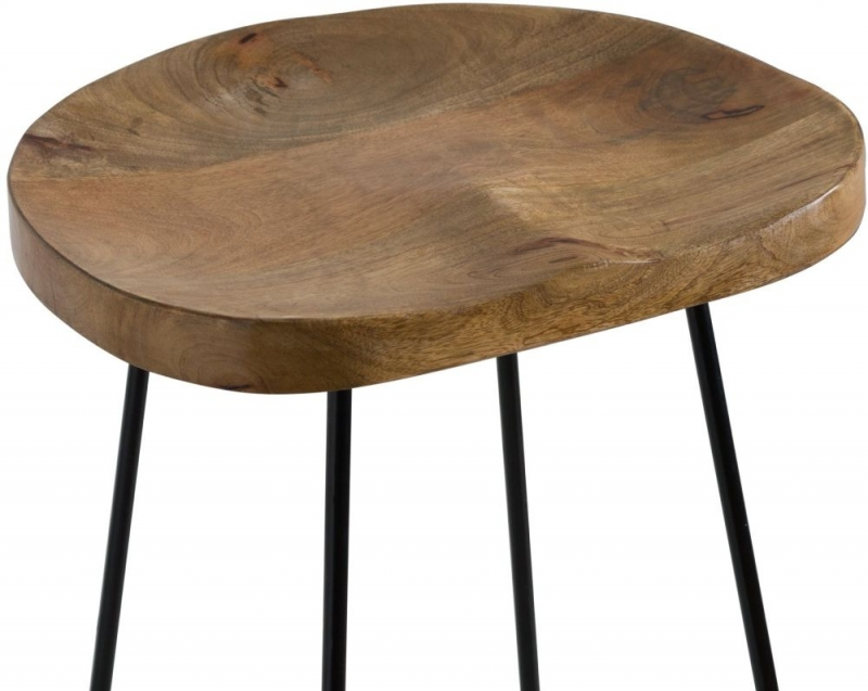 Hill Interiors Franklin Barstool - Wood and Metal