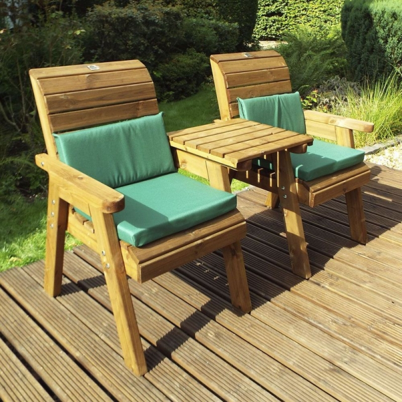 Charles Taylor Gold Series Twin Garden Chair with Straight Tray