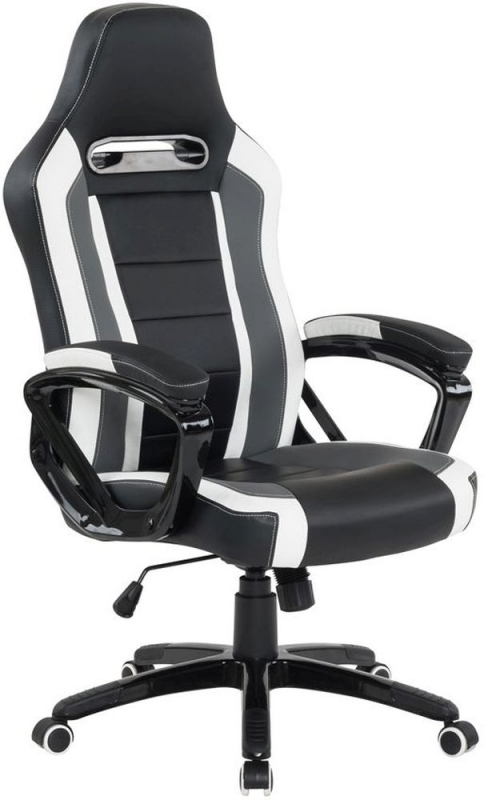 Vida Living Landon Black Gaming Office Chair