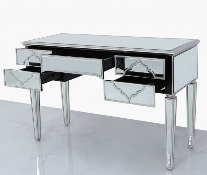 Morocco Silver Mirrored Dressing Table