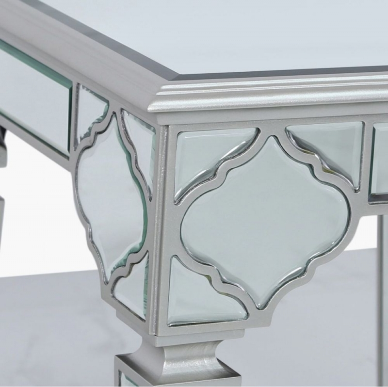Morocco Silver Mirrored End Table